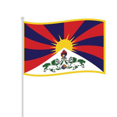 waved tibetan flag