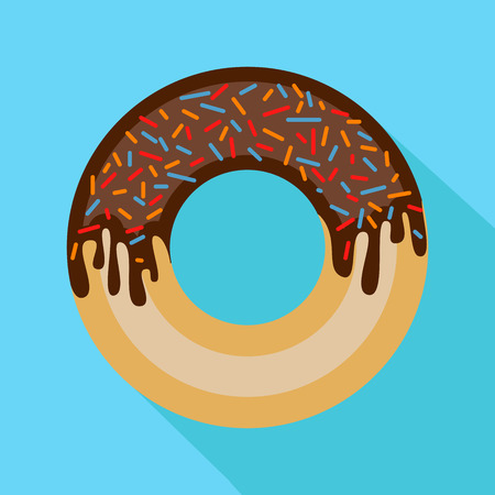 donut illustration with the dropped shadow