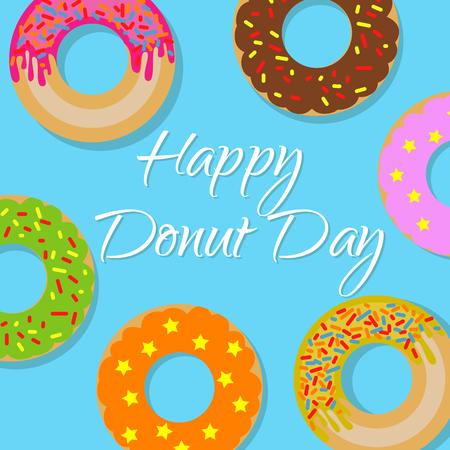 Happy donut day banner
