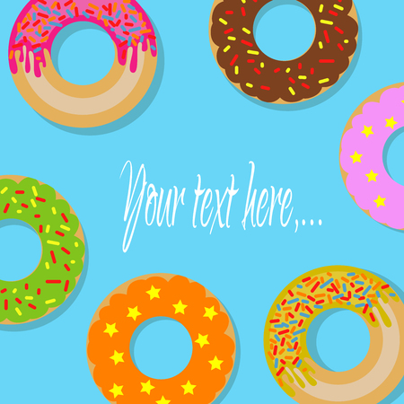 Firmar con donuts Foto de archivo - 76922156