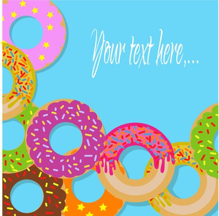 Firmar con donuts Foto de archivo - 76922214