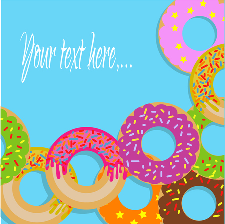 Sign with donuts Stock Vector - 76922217