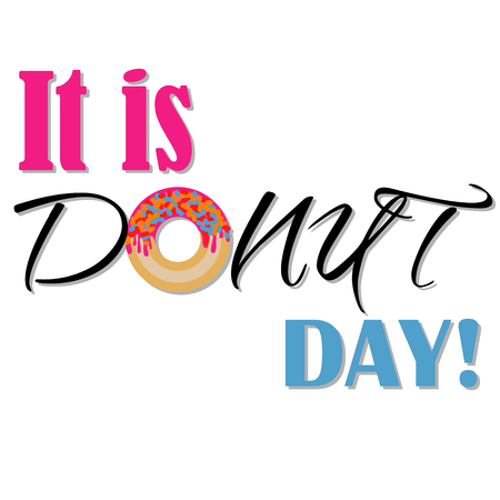 It is donuts day banner