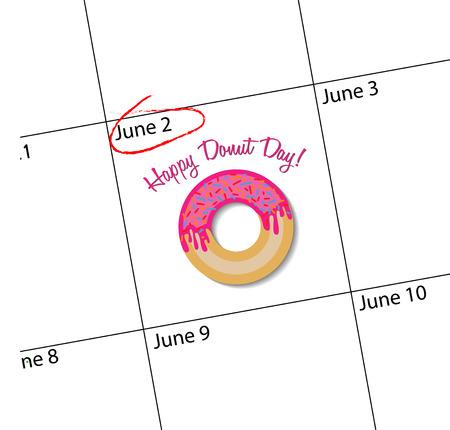 happy donut day banner Illustration