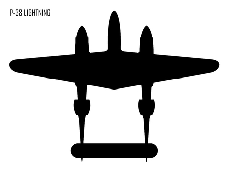 Guerre mondiale Ii Lockheed P 38 Lightning Vecteurs