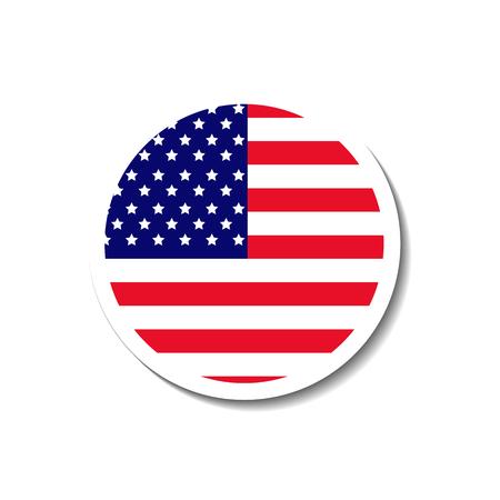 United states of america badge Illusztráció