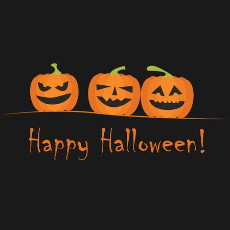 happy halloween greeting card Ilustração