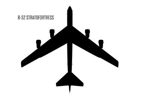 Convair B-36 Peacemaker silhouette Stock fotó - 85080293