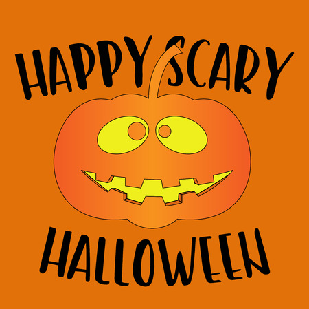happy scary halloween greeting card
