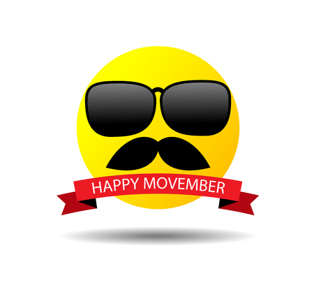happy movember smiley
