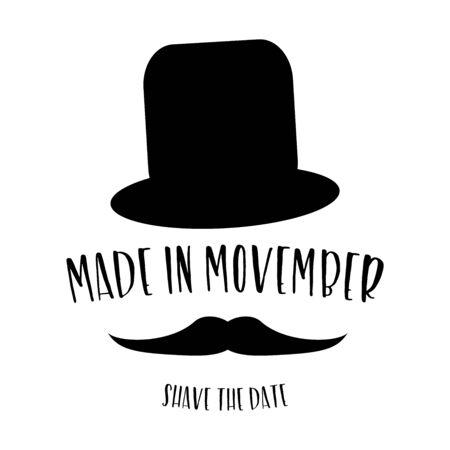 Movember 면도기 날짜 포스터
