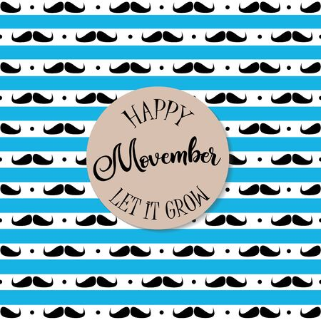 Happy movember card design.