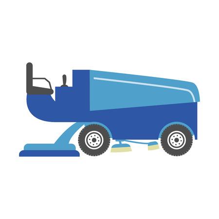 blue ice resurfacer