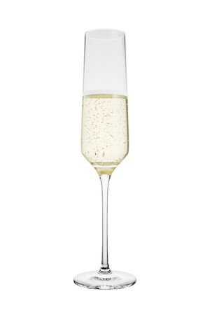 3D Rendered Flute of Champagne Isolated on White Background With Clipping Path 版權商用圖片