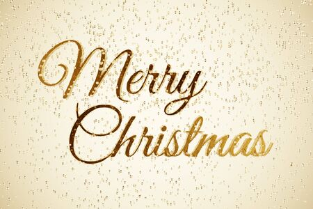 3D Rendered Golden Merry Christmas Text Isolated Inside a Fizzy Champagne Background Conceptual Image 版權商用圖片