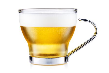 Coffee Cup With Beer Isolated On White