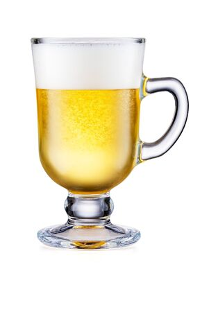 Irish Coffee Cup With Beer Isolated On White