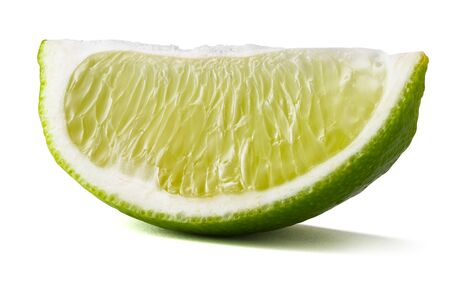 Slice of Lime Isolated on White Background 版權商用圖片