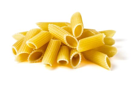 Heap of Penne Pasta Isolated on White Background