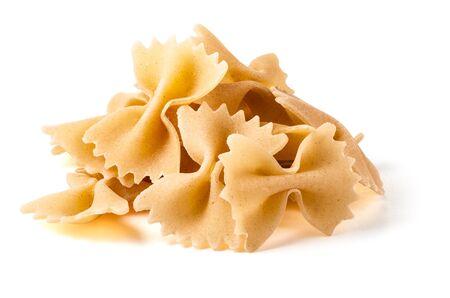 Farfalle Pasta Isolated on White Background 版權商用圖片