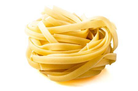 Fettuccine Italian Isolated on White Background 版權商用圖片
