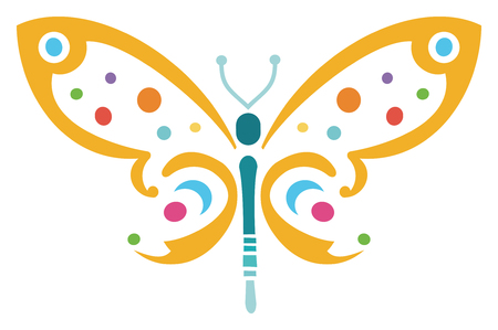 Colorful Butterfly Иллюстрация