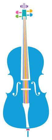 다채로운 첼로 일러스트