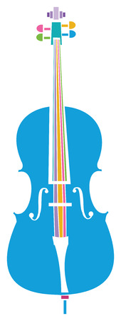 Colorful Cello Фото со стока - 89050072