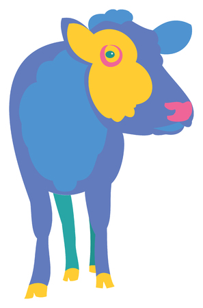 Colorful Cow vector illustration