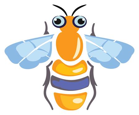 Icône de miel abeille Banque d'images - 89053538