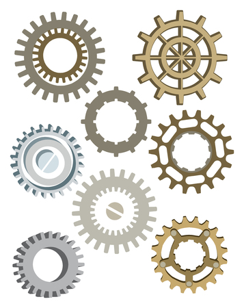 Steampunk Gear Collection Illustration