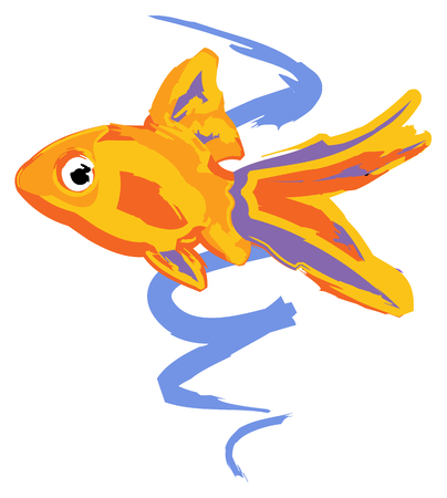 Goldfish in painting icon