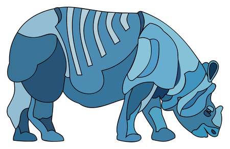 Rhinocerous vector illustration