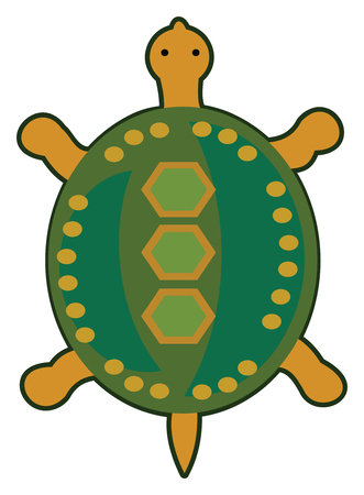 Turtle in a tribal inspired style Иллюстрация