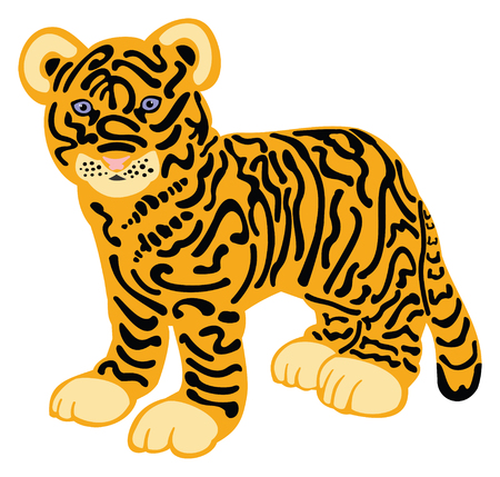 Tiger Cub Illusztráció
