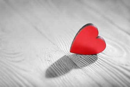 valentines day hearts on wooden light background.in love concept Stockfoto