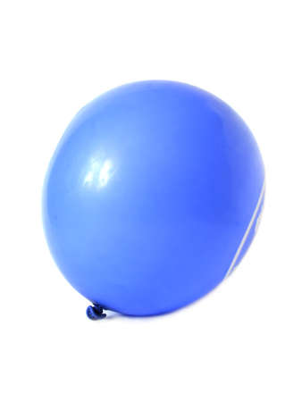 Blue balloon on a white background Stock Photo - 12947088