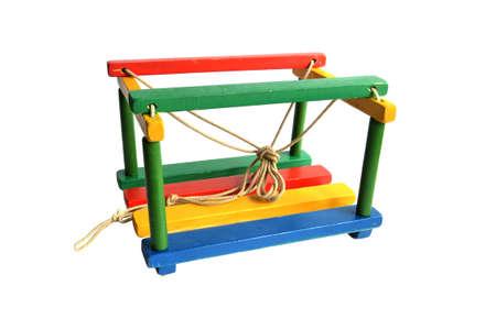 childrens multi-colored swing photo