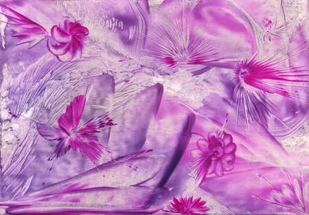 encaustic: watercolor lilac pattern as background