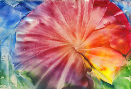 watercolor abstract iridescent flower as background Stock Photo - 14290560