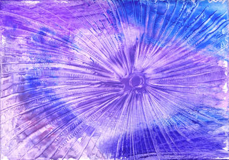 watercolors abstract blue background in the manner of spirals Stock Photo