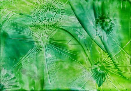watercolors green abstract sample