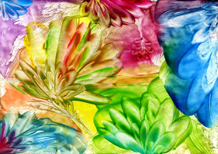 watercolors abstract bright flower as background Stock Photo - 14748170