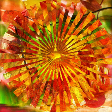 encaustic: watercolors abstract background in the manner of spirals