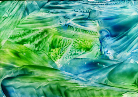 encaustic: watercolors abstract blue pattern as background