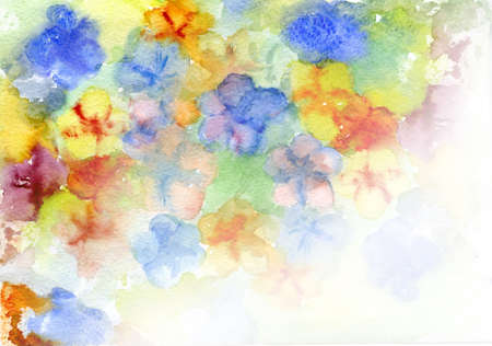 watercolor flowers a background for the text photo
