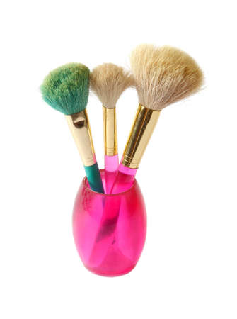 Isolated brush set makeup photo