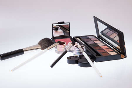grooming product: Collection of cosmetics for make-up artist.