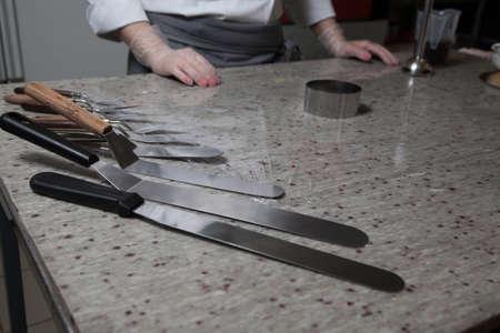 set of metal pastry blades