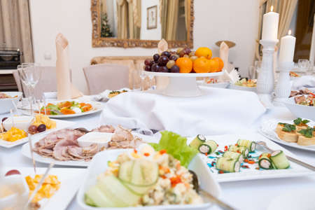 food on the table in the restaurant Stock Photo